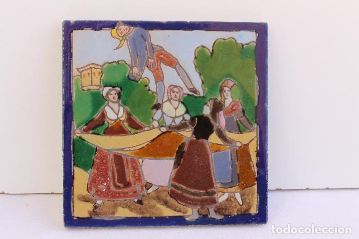 Antigüedades: 9 AZULEJOS DE MENSAQUE RODRIGUEZ FINALES SIGLO XIX - Foto 11 - 112806583