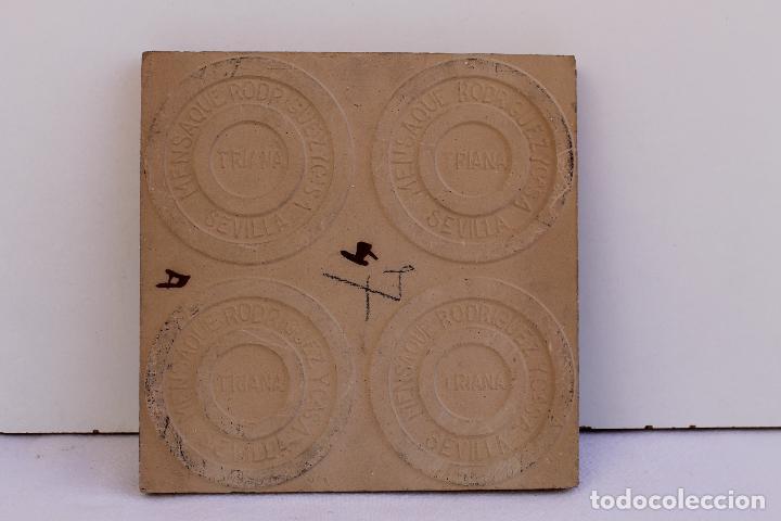Antigüedades: 9 AZULEJOS DE MENSAQUE RODRIGUEZ FINALES SIGLO XIX - Foto 16 - 112806583