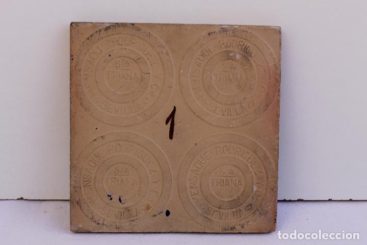 Antigüedades: 9 AZULEJOS DE MENSAQUE RODRIGUEZ FINALES SIGLO XIX - Foto 18 - 112806583