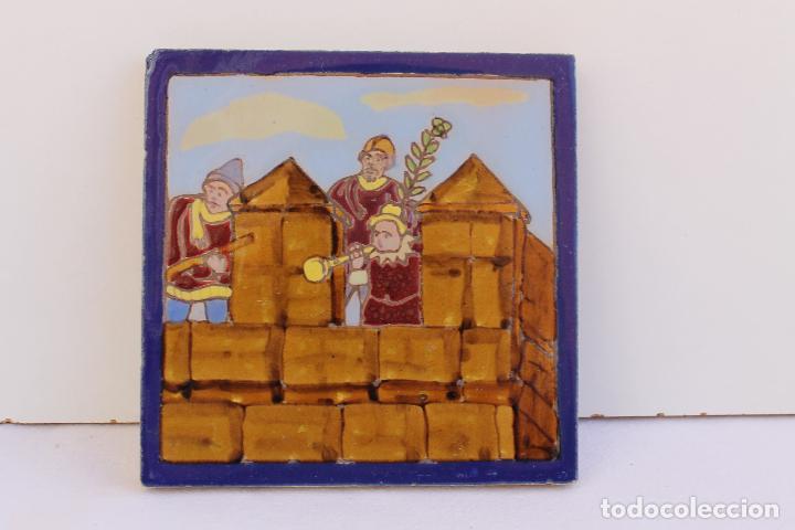 Antigüedades: 9 AZULEJOS DE MENSAQUE RODRIGUEZ FINALES SIGLO XIX - Foto 19 - 112806583