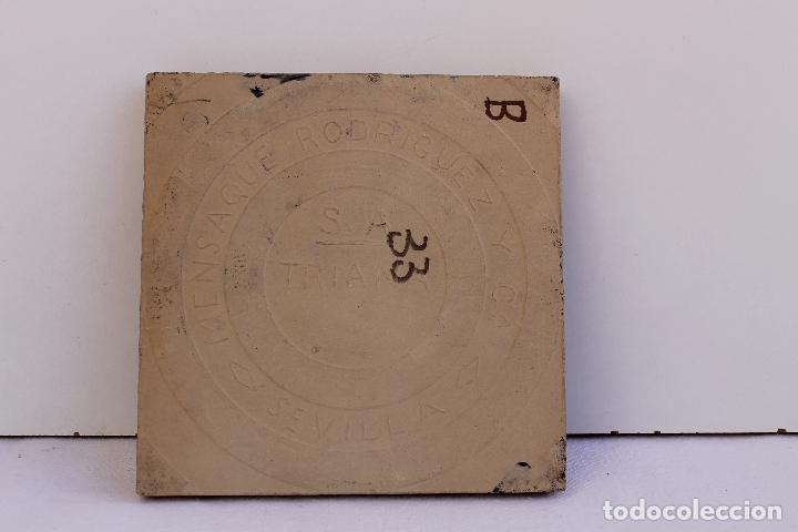 Antigüedades: 9 AZULEJOS DE MENSAQUE RODRIGUEZ FINALES SIGLO XIX - Foto 20 - 112806583