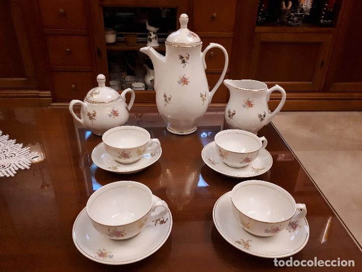 Antigüedades: antiguo juego de cafe. royal gijon - Foto 2 - 112811811