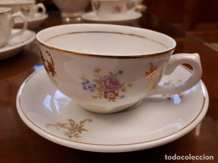 Antigüedades: antiguo juego de cafe. royal gijon - Foto 3 - 112811811