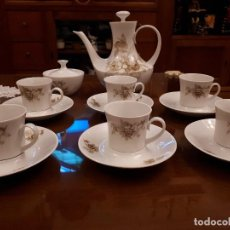 Antigüedades: ANTIGUO JUEGO DE DE TAZAS DE CAFE. PRECIOSO. Lote 112812327