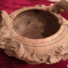 Antigüedades: ANTIGUO CENTRO ALFARERO DE TRIANA, TERRACOTA URDIDO A MANO FIRMADA .J TOVA. P.S XIX.. Lote 112783211