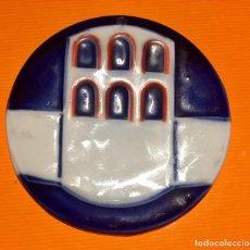 Antigüedades: PLACA`PORCELANA REDONDA MURALLA BIMILENARIO FUNDACION LUGO GALICIA 935 2000 1975 76 9CMS. Lote 112813207