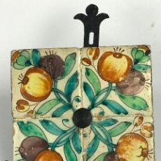 Antigüedades: VALENCIA PANEL DE 4 AZULEJOS DE LA MANGRANA VALENCIANOS S.G. XVIII. Lote 112818071