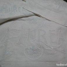 Antigüedades: *ANTIGUA SÁBANA DE HILO .S XIX..1,95M (RF:LL-37/AE). Lote 112828971