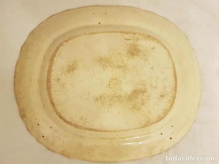 Antigüedades: Fuente de Sargadelos ovalada. Tercera época (1845-1870) . Serie paisajes o vistas imaginarias - Foto 4 - 112830159