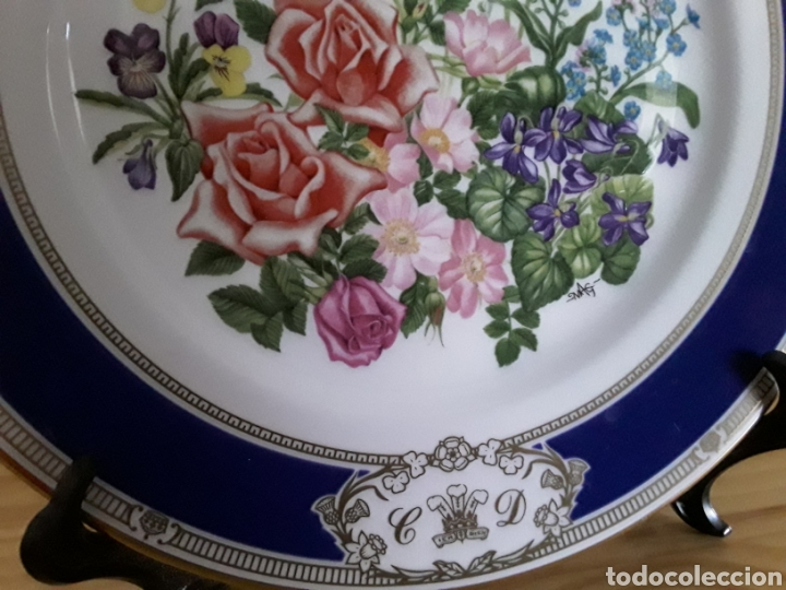 Antigüedades: Plato de porcelana inglesa Royal Doulton - Foto 2 - 112833304