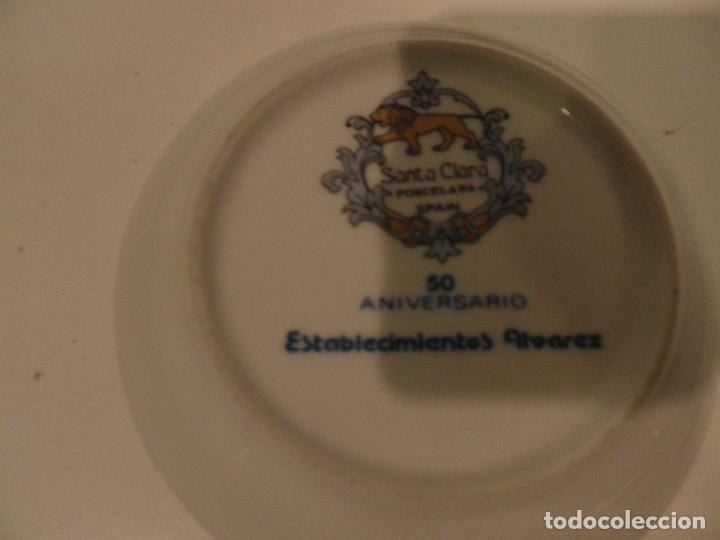 Antigüedades: PLATITO ESCUDO DE MADRID , PORCELANA SANTA CLARA 9 CM , 50 AÑOS ESTABLECIMIENTOS ALVAREZ - Foto 5 - 112836367