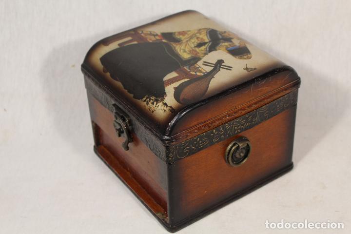 CAJA JOYERO EN MADERA (Antigüedades - Hogar y Decoración - Cajas Antiguas)