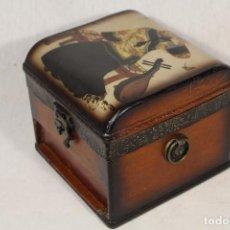 Antigüedades: CAJA JOYERO EN MADERA. Lote 112846711