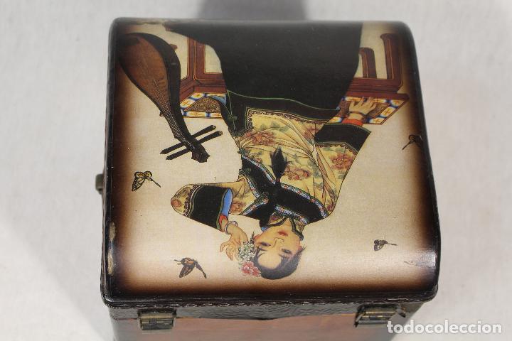 Antigüedades: caja joyero en madera - Foto 4 - 112846711