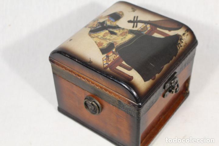 Antigüedades: caja joyero en madera - Foto 6 - 112846711