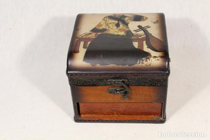 Antigüedades: caja joyero en madera - Foto 7 - 112846711