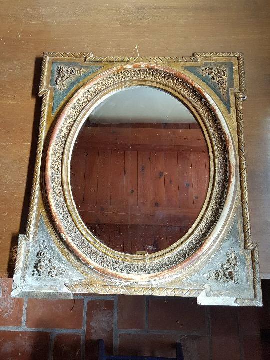 Antigüedades: Espejo ovalado - Foto 2 - 111922375