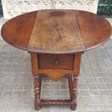 Antigüedades: MESA DE ALAS. MADERA DE NOGAL. ESPAÑA. SIGLO XVIII - XIX.. Lote 112885411