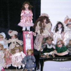 Muñecas Porcelana: LOTE DE 14 MUÑECAS DE PORCELANA DE VARIAS MEDIDAS . Lote 112896983