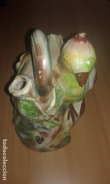 ANTIGUO BOTIJO O BUCARO DE CERAMICA DE MANISES - LORO (Antigüedades - Porcelanas y Cerámicas - Manises)