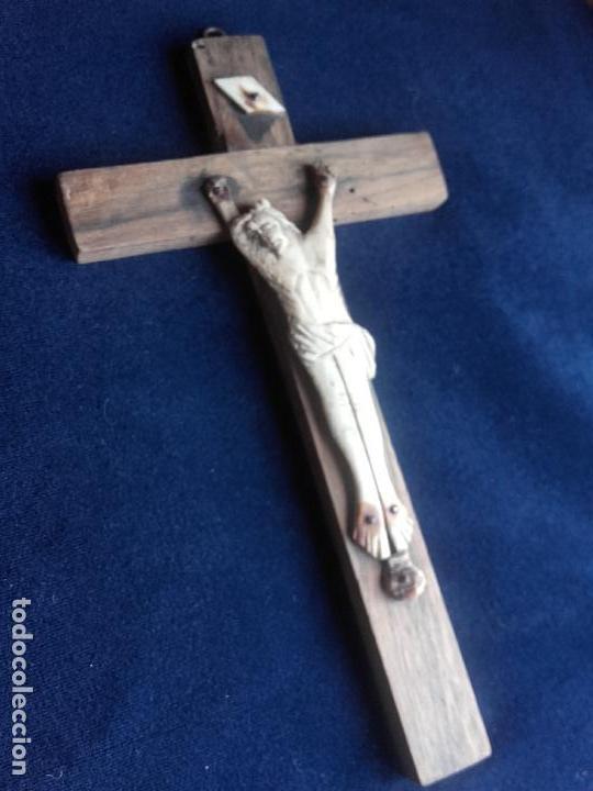 CRUCIFIJO CRISTO HUESO (Antigüedades - Religiosas - Crucifijos Antiguos)