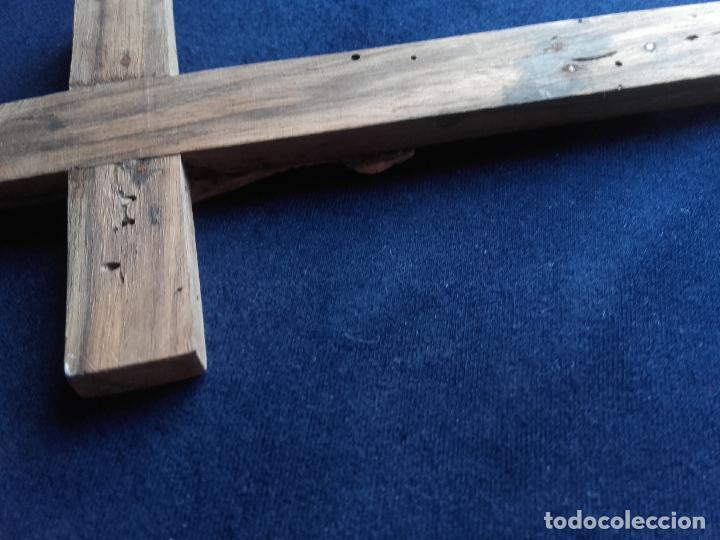 Antigüedades: Crucifijo cristo hueso - Foto 2 - 112907219