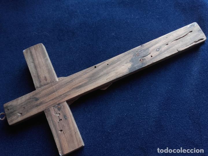 Antigüedades: Crucifijo cristo hueso - Foto 3 - 112907219