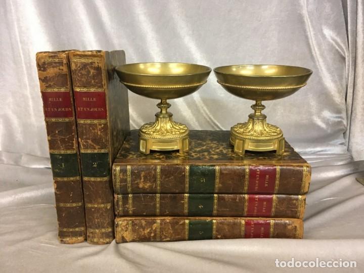 Antigüedades: Pareja de cassolettes copas de bronce dorado S. XIX Francia - Foto 3 - 112928487