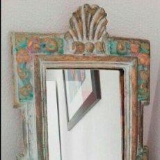Antigüedades: BONITO ESPEJO IMITACIÓN MADERA. Lote 112931667