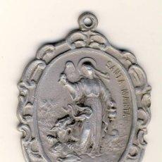 Antigüedades: GRAN MEDALLA DE SANTA MARTA.- ALUMNIO 45X 35 MM. . Lote 112955923