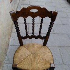 Antigüedades: PAREJA DE SILLAS NOGAL . Lote 112966679
