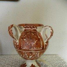 Antigüedades: JARRON CERAMICA TERUEL FIRMA PUNTER. Lote 112969327