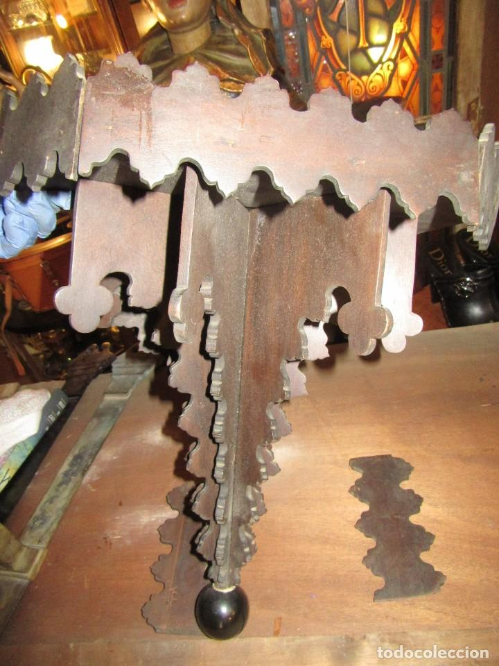 Antigüedades: MÉNSULA ARTESANAL DE MADERA - Foto 2 - 112971075