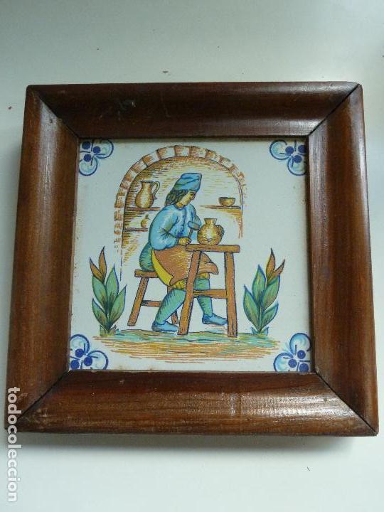 azulejo motivo alfarero. marco de madera. (20,5 - Comprar Azulejos ...