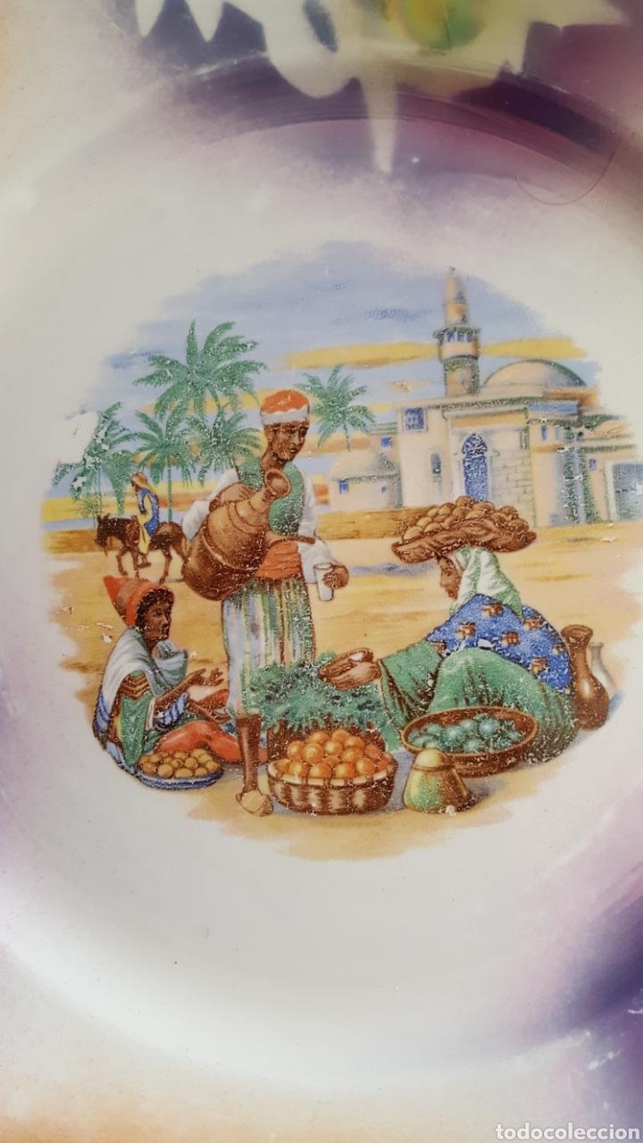 Antigüedades: San Claudio Ensaladera y plato de reflejos SXX Años 30 - Foto 5 - 112984352