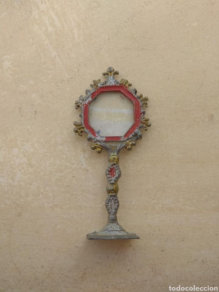 Antigüedades: Antigua Custodia - Relicario - Leer Descripción - - Foto 2 - 52759968