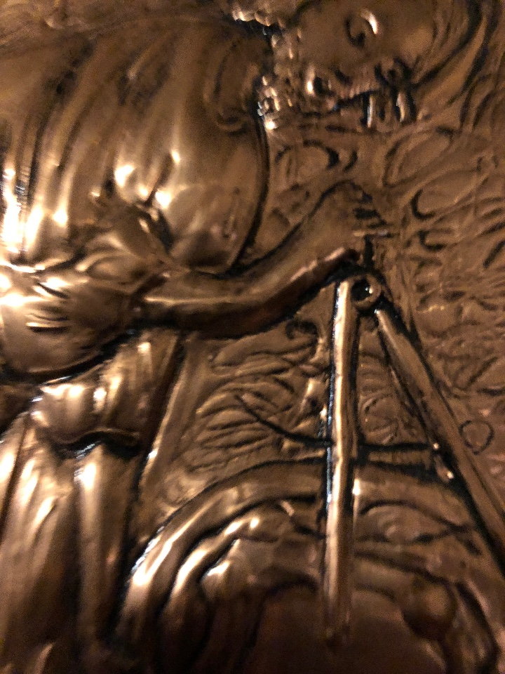 Antigüedades: Bajorelieve BronceCobre(Apostol con Compas) 27*31(85€) - Foto 9 - 104320291