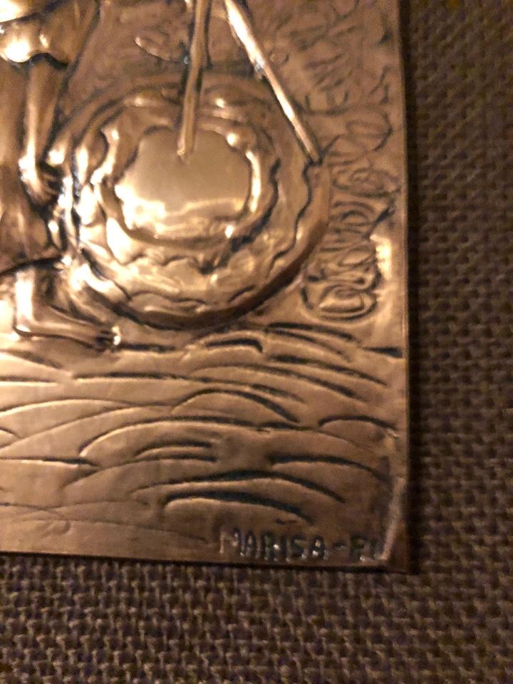 Antigüedades: Bajorelieve BronceCobre(Apostol con Compas) 27*31(85€) - Foto 11 - 104320291
