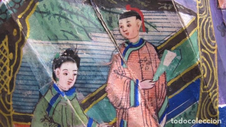 Antigüedades: Abanico chino de mil caras. c.1825 - Foto 3 - 112993607