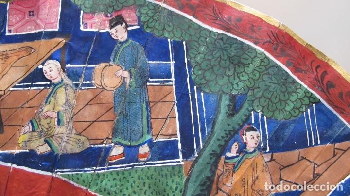 Antigüedades: Abanico chino de mil caras. c.1825 - Foto 5 - 112993607