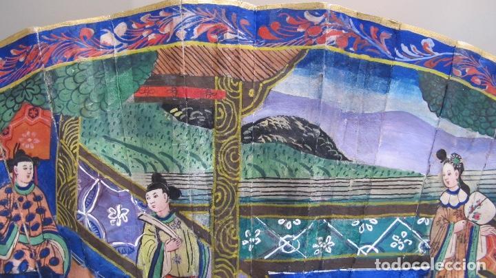 Antigüedades: Abanico chino de mil caras. c.1825 - Foto 6 - 112993607