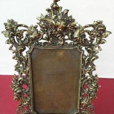 Antigüedades: ESPECTACULAR MARCO ANTIGUO. TOTALMENTE METÁLICO.. Lote 112998791