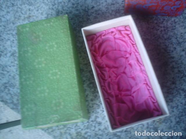 Antigüedades: lote de 3 cajas chinas antiguas para regalo interior seda xix - Foto 5 - 113015639