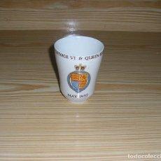 Antigüedades: VASO-KING GEORGE VI & QUEEN ELIZABETH LONDON COUNTY COUNCIL.MAYO 1937.. Lote 113034519