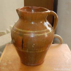 Antigüedades: JARRA DE CERAMICA VIDRIADA // CERÁMICA POPULAR ANTIGUA. Lote 113043195