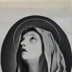 Antigüedades: VIRGEN DE LA DOLOROSA. JACQUARD EN SEDA. CIRCA 1950. . Lote 113046635