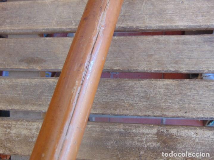 Antigüedades: ANTIGUO BASTON CON MANGO DE MADERA ESTOQUE Y CUERPO DE CAÑA - Foto 13 - 113074367