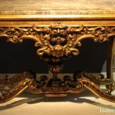 Antigüedades: IMPRESIONANTE CONSOLA ITALIANA SIGLO XVIII- ROMA CA. 1710 .PIEZA DE MUSEO-. Lote 113075219