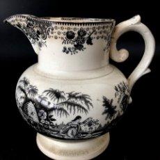 Antigüedades: JARRA INGLESA DE PICO ESTAMPADA EN NEGRO - S. XIX. Lote 113083519