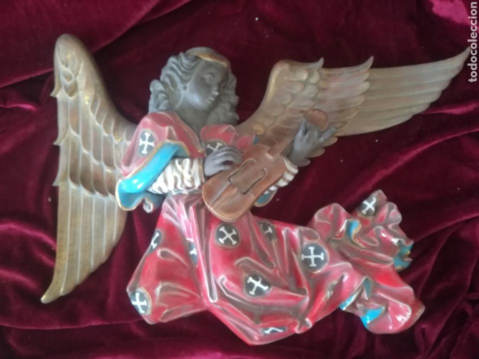 GRAN ANGEL PORCELANA ALGORA 52CM (Antigüedades - Porcelanas y Cerámicas - Algora)